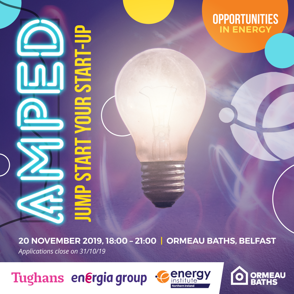 Electronic flyer for Amped Start Up competition